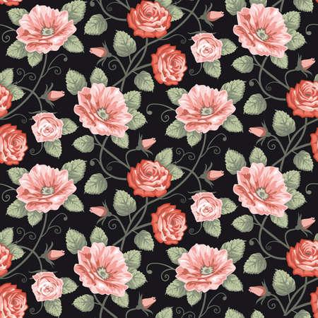 Patrón transparente de rosas