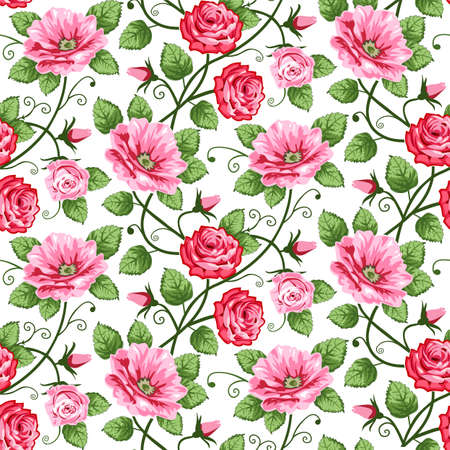 Seamless roses pattern Stock Vector - 8801325