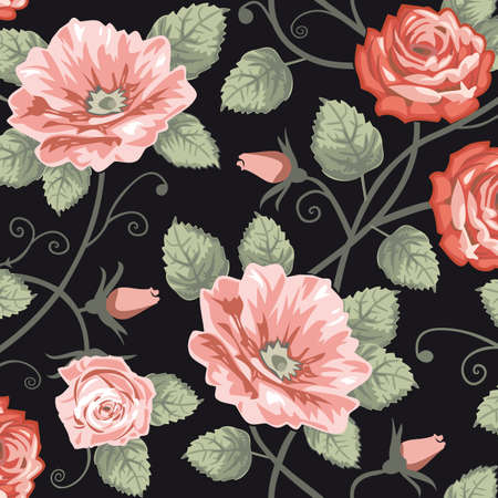 repeating pattern: Roses seamless background