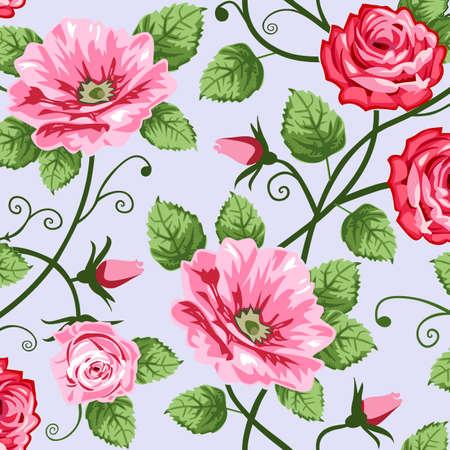 로맨틱 장미 원활한 패턴