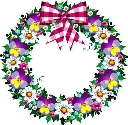 Spring wreath Stock Vector - 8911442