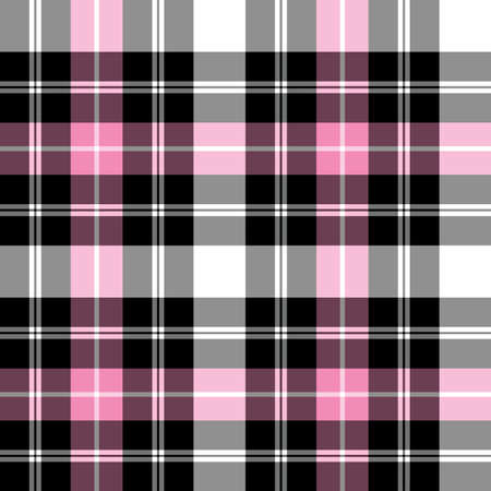 Patrón de vector cuadritos de tartán Ilustración de vector