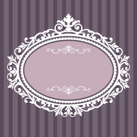 Decorative oval vintage frame Stock Vector - 8911445