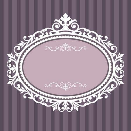�valo: Marco decorativo de cosecha oval Vectores