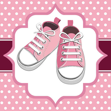 Pink kids sneaker Ilustração