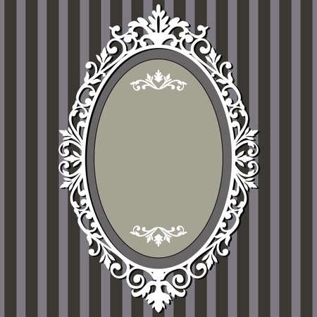 royal: Oval vintage frame