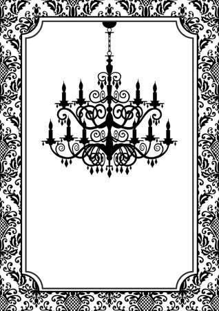 Vintage chandelier Stock Vector - 9351715