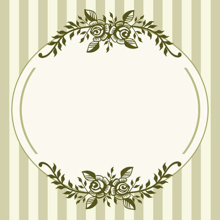 Vintage roses green frame Illustration