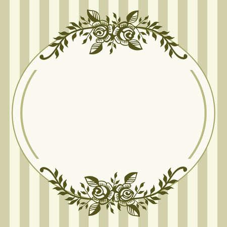 Vintage roses green frame Vector