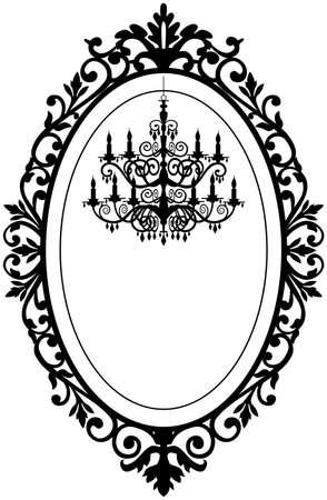 chandelier: Vintage frame with chandelier