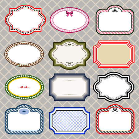 Set of retro styled frames Stock Vector - 9631634