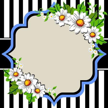 Daisy flower frame Vector