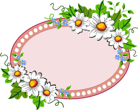 Flower frame Stock Vector - 9631637