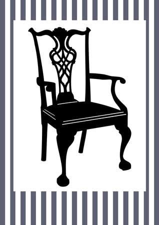 골동품 의자 일러스트