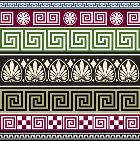 neoclassical: Set of antique greek ornaments