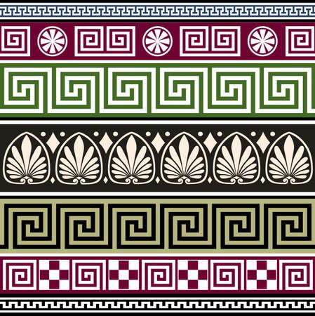 ancient greek: Set of antique greek ornaments