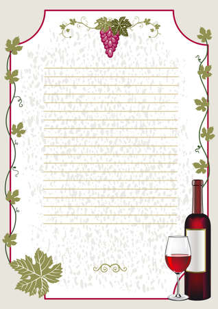 Wine card Stock Vector - 9807893