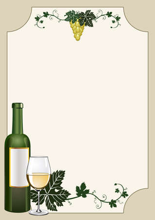 grapevine: Wine shield Illustration