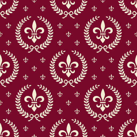 Red royal seamless textile pattern Vector