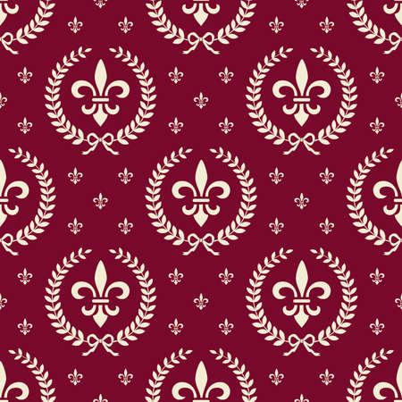 Red royal seamless textile pattern Zdjęcie Seryjne - 9930277