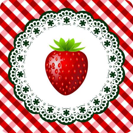 Strawberry frame Vector