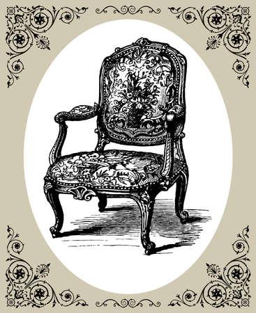 Baroque armchair Vector