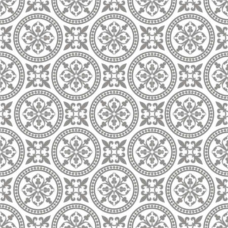 gray pattern: Antique seamless pattern Illustration
