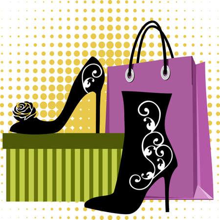 Shoes shopping Vector