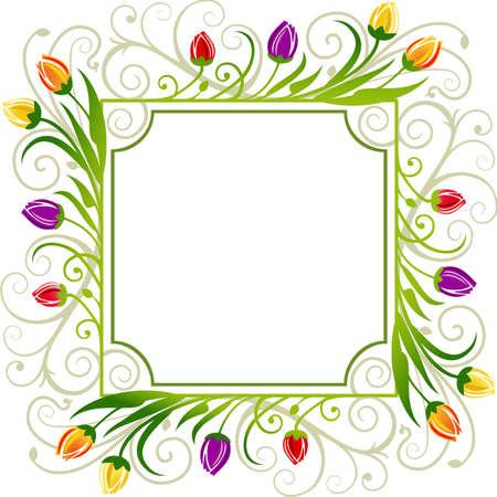 Tulpen lente kader Vector Illustratie