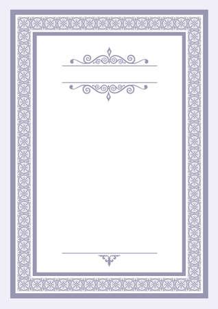 Certificate template Ilustração