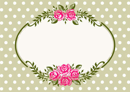 Vintage roses green frame Stock Vector - 10727817