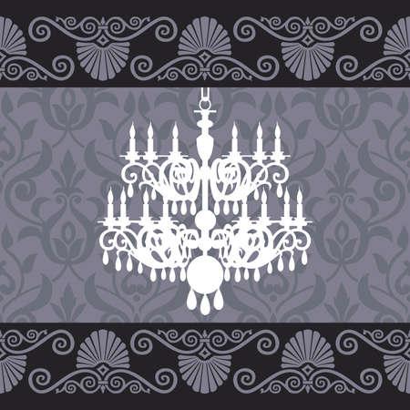 Vintage chandelier Stock Vector - 10825239