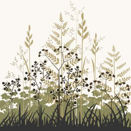 Planten en grassen achtergrond