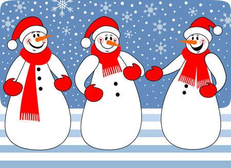 trio: Snowmen trio