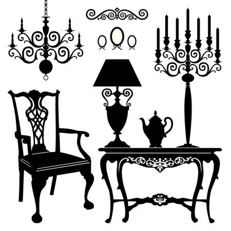 Antique furniture Stock Vector - 11585099