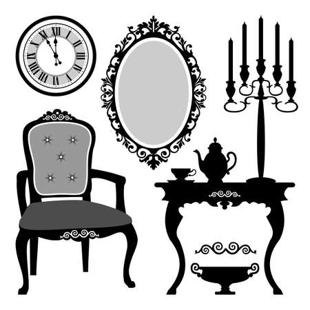 baroque room: Antique interior objects