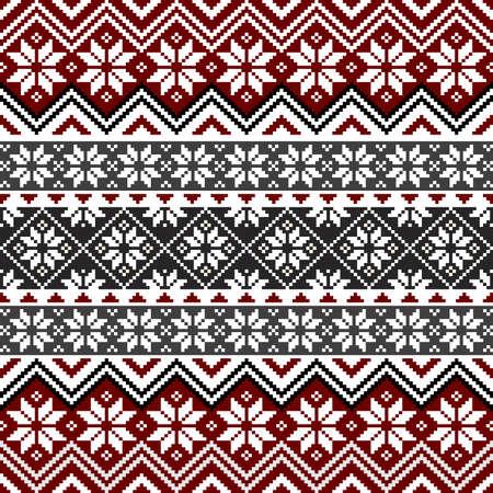 북유럽 눈송이 패턴 일러스트