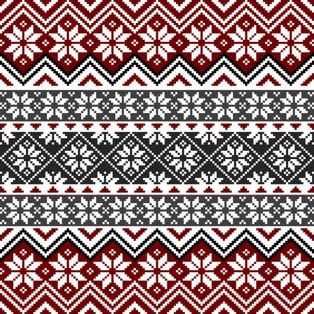 Nordic snowflake pattern Illustration
