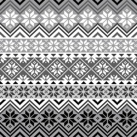 norwegian: Nordic snowflake pattern Illustration
