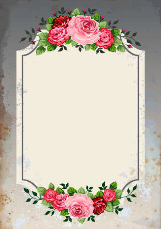 Vintage roses background Vector