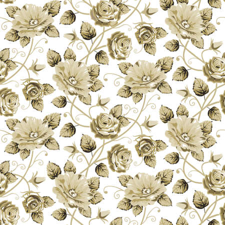 레트로 꽃 패턴