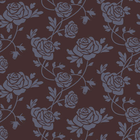 Roses damask seamless pattern Vector