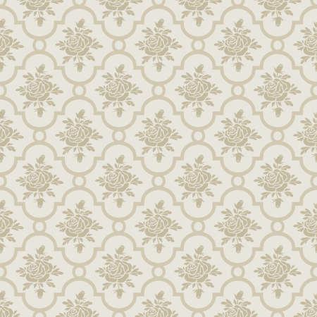 Pastel romantic roses seamless pattern Zdjęcie Seryjne - 14207540