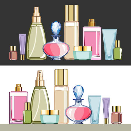 ba�o blanco: Productos cosm�ticos Vectores