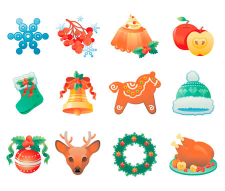 christmas icon: Christmas icon set containing 12 icons with winter holidays symbols.
