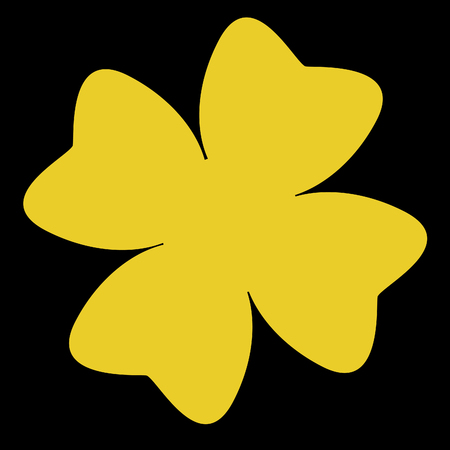 Gold clover with black bacground
