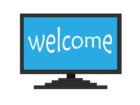 Welcome on TV screen Vector