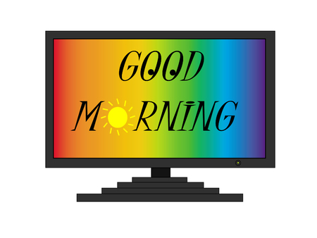 Good morning on TV screen Stock Vector - 7458279