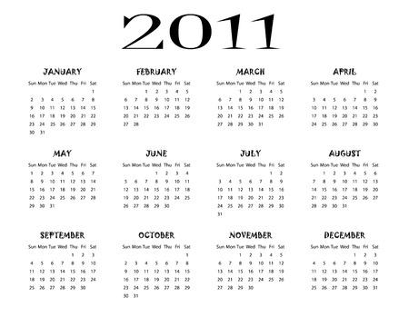Calendar 2011 Stock Vector - 7992259
