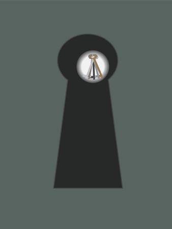 Keyhole with keys Illustration